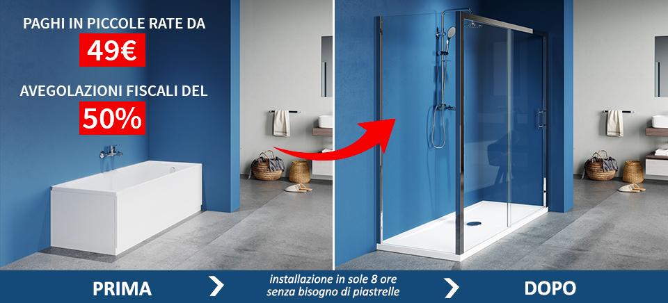 Trasformazione vasca in doccia - Trasformazione vasca in doccia torino ...